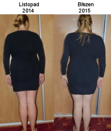 Foto postavy zezadu - srovnání listopad a březen