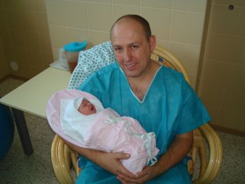 Kristýnka s tatínkem