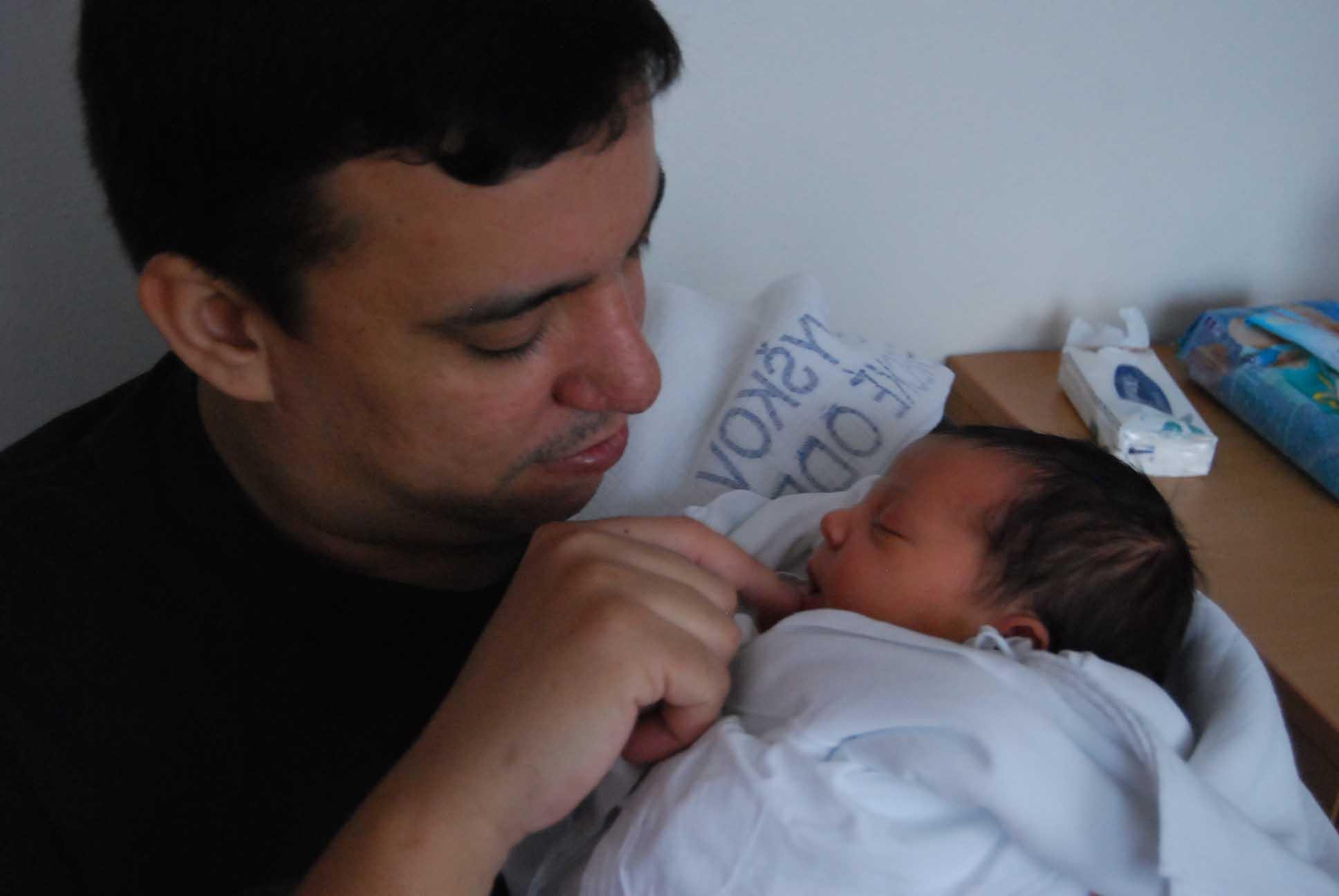 Apolenka s tatínkem