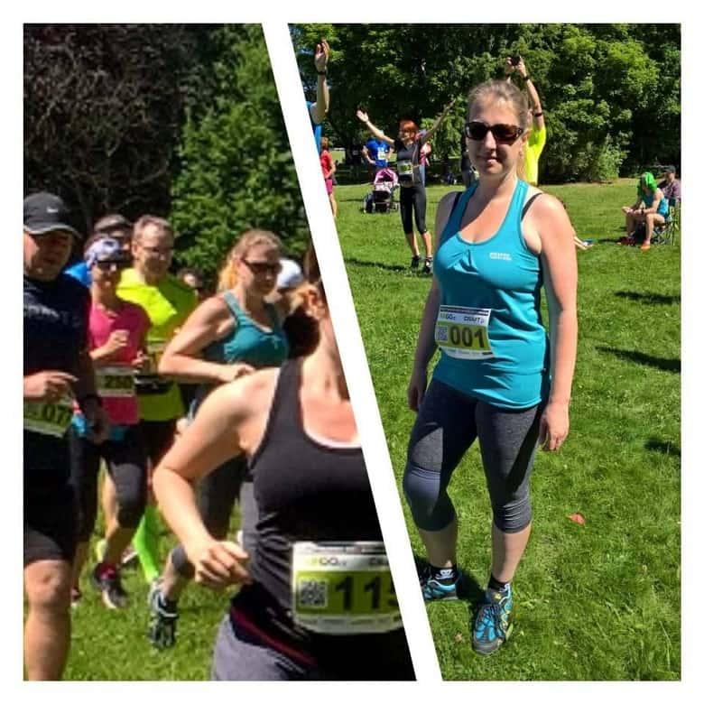 Naďa na běžeckém závodě
