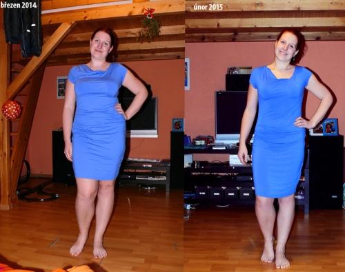 Porovnání v modrých šatech