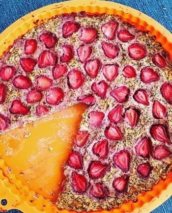 Recept na jahodový fit koláč