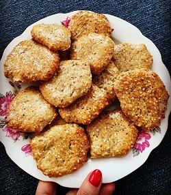 Recept na Sezamové krekry