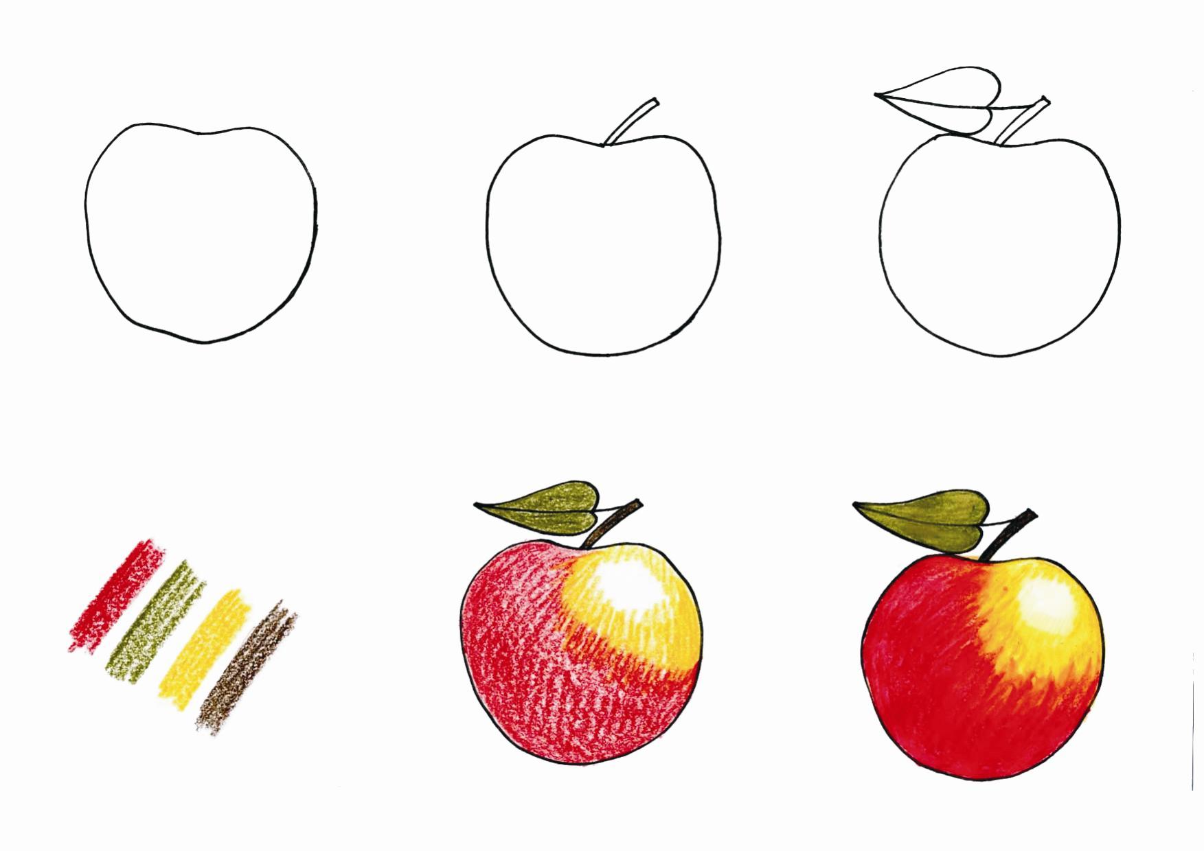 Jak se kreslí jablíčko?