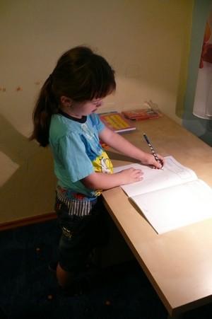 Předškolák - Jízda tužkou