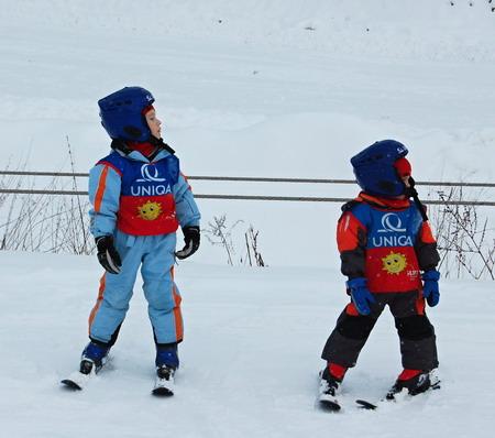 Rosťa a Tobi lyžují