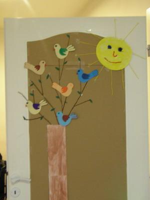 Jarní tvoření - strom a slunce