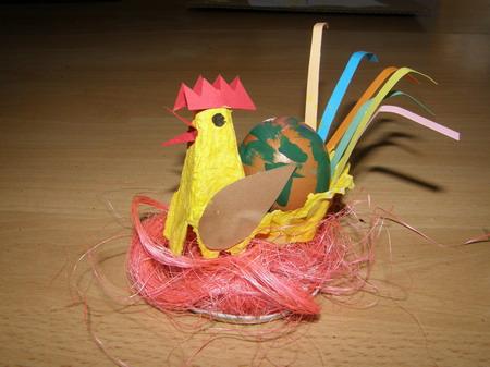 Velikonoční tvoření - slepička