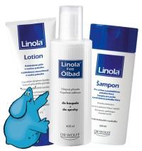 Linola olejová přísada do koupele, šampon, lotion