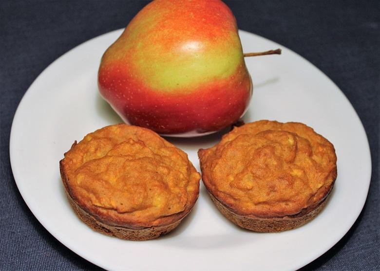 Mrkvovo-jablečný muffin z celozrnné mouky 2 ks, jablko