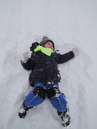 Filípek ve sněhu