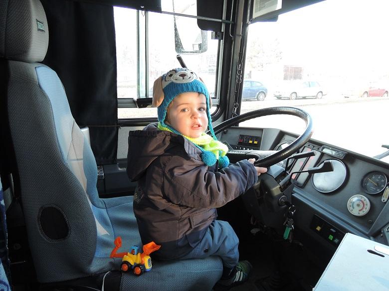 Návštěva autobusového depa