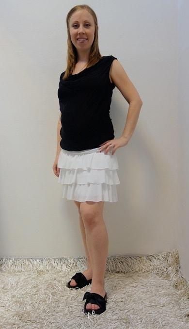Těhotenské oblečení - těhotenská sukně s halenkou