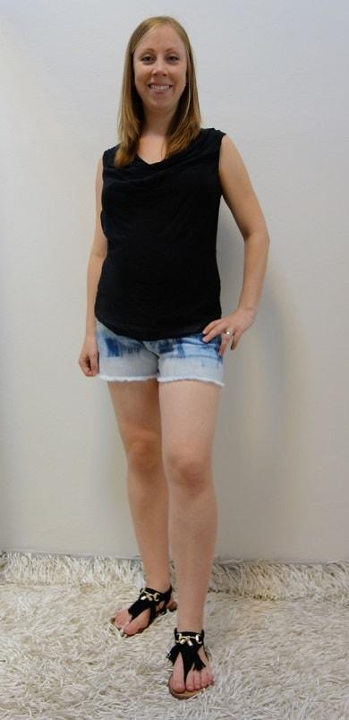 Těhotenské oblečení - těhotenské kraťase s halenkou