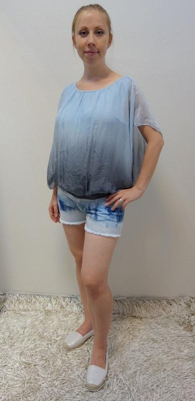 Těhotenské oblečení - těhotenská halenka, kraťase