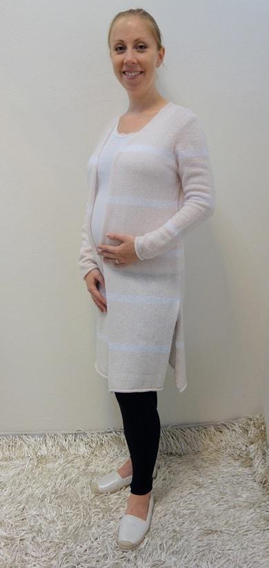 Těhotenské oblečení - těhotenské legíny s tílkem, kardiganem