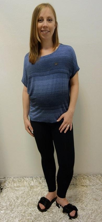 Těhotenské oblečení - těhotenské legíny s halenkou