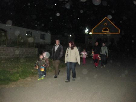 Lampiónový průvod - Hospodářský dvůr Bohuslavice - sraz Babyonline 2014