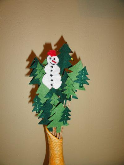 Sněhulák v lese